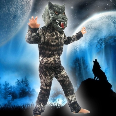 halloween party costumes werewolves cosplay costume wolf clothes for girls boy baby kids party performance costume - Halloween Werewolf