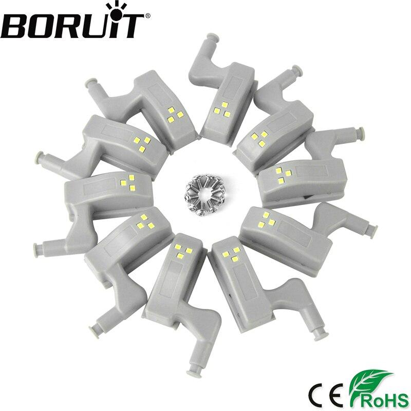 BORUiT 10pcs Universal Cabinet Cupboard 0.25W Inner Hinge