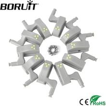 BORUiT 10pcs Universal Cabinet Cupboard 0 25W Inner Hinge LED Sensor font b Light b font