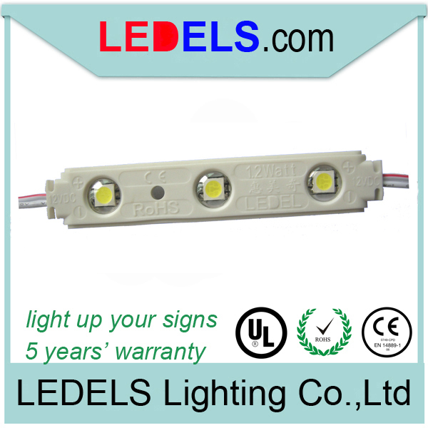 100pcs/lot 0.72w 5050 injection high quality 5050 led modules for channel signage