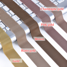 Milanese Loop Bracelet Stainless Steel band For Apple Watch series 1/2/3 42mm 38mm Bracelet strap for iwatch 4 5 40mm 44mm