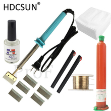 New 7 in 1 UV glue Optical Clear Adhesive dispergator + solder iron Hot Blade Decal Remover glue LCD touch screen repair