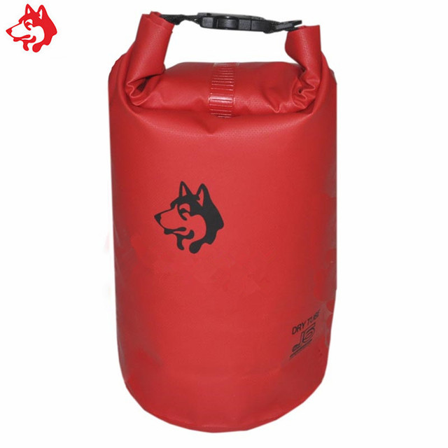 15l Swimming Dry Bag Outdoor Tarpaulin Water Resistant With Shoulder Strap Red Green Camping