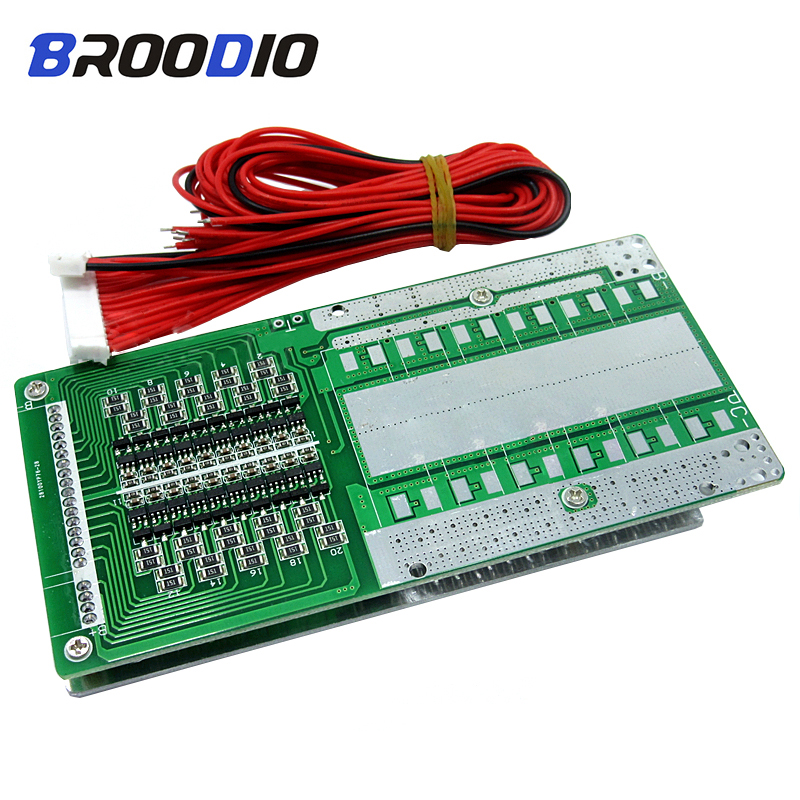 20S BMS 60V 72V Lithium Battery Protection Board For Electric Motorcycle Protection Plate With Balancer Equalizer Board 3.7/3.2V