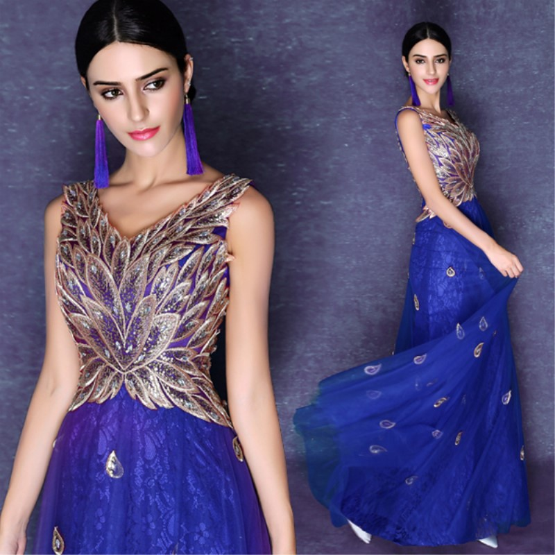 Robe De Soiree New Hot Long Elegant Evening Dresses 2018 Banquet Floor Length Formal Dress for Party BT16