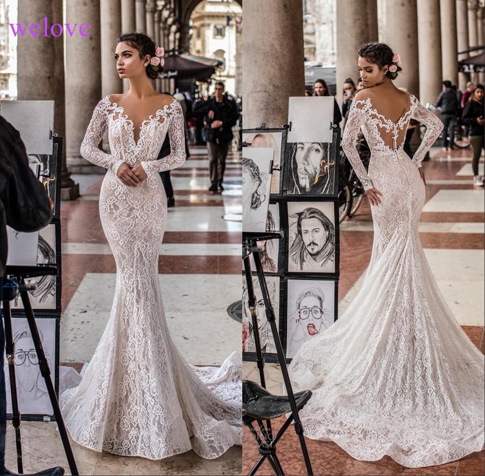 Robe de mariee New arrival 2019 Summer Beach Wedding Dress with Straps White Open Back Mermaid