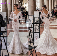 Robe de mariee New arrival 2020 Summer Beach Wedding Dress with Straps White Open Back Mermaid Wedding Dresses Vestige De Noiva