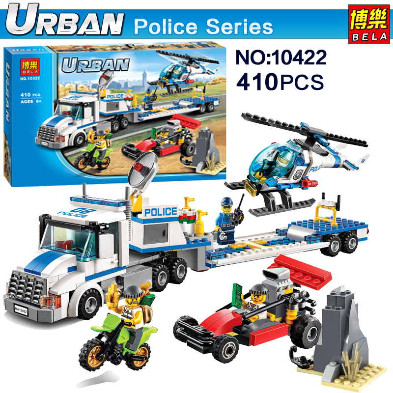 2017 Bela Urban City Police Force Helicopter Truck Models Building Blocks Toys Compatible action figures kids Classic toys 60049