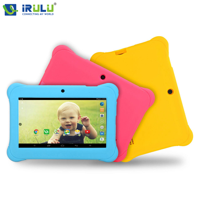 Y1 7 ''kids irulu tablet quad core 1024*600 android 4.4 tablet PC 1 GB + 8 GB Wifi Dual Cam Babypad Con Caja de Regalo para Los Niños