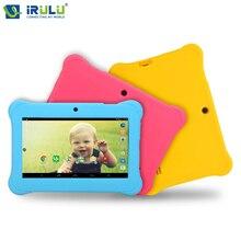 Irulu марка 7 » дети планшет для детей RK3128 четырехъядерных процессоров IPS экрана 1024 * 600 андроид 4.2.2 512 м + 8 ГБ wifi Babypad 2015 новый