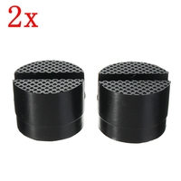 2 X Car Rubber Pad Hydraulic Black Jack Disk Slotted Frame Rail Floor Car Jacks Tool