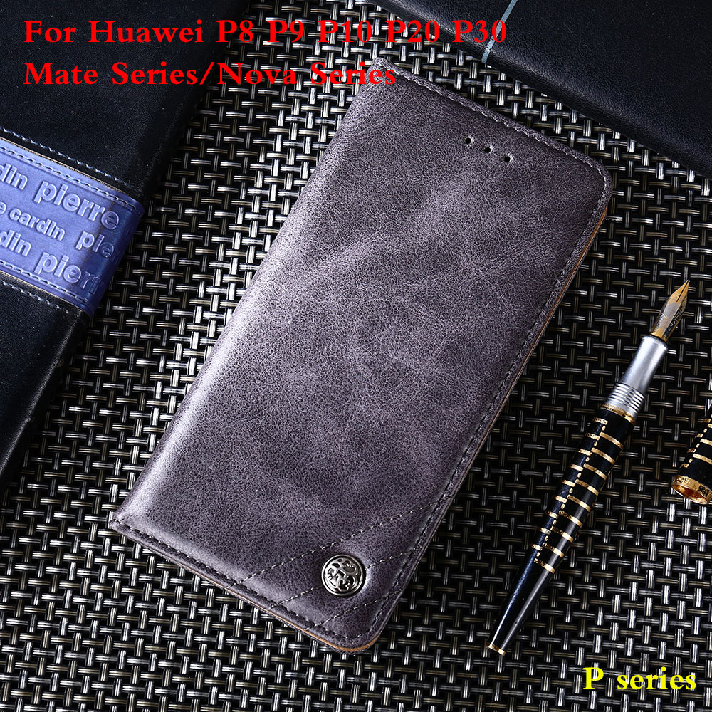 Phone case PU Leather For Huawei P8 P9 P10 P20 P30 For Mate9 10 20 Lite Pro Nov 2 PLUS