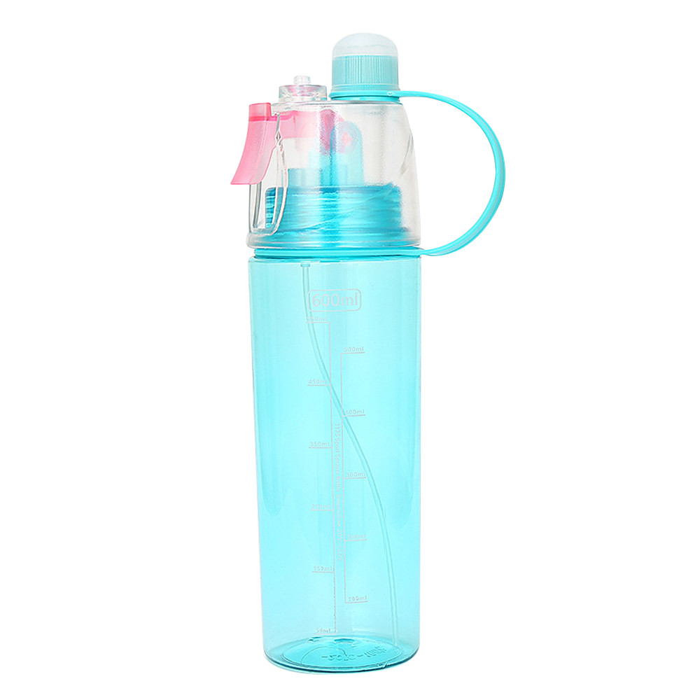 Portable Water Bottle Spray 740ml Drink Leak Proof Cup for Travel Outdoor Sports