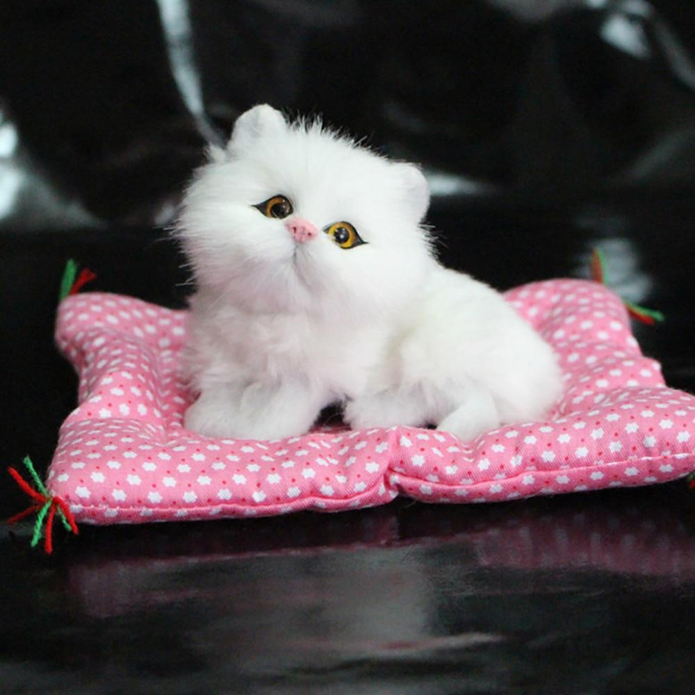 Автомобильные украшения, имитация плюшевой кошки, кукла, украшение на приборную панель автомобиля, игрушки котенка, милый авто Декор интерьера, аксессуары, подарки