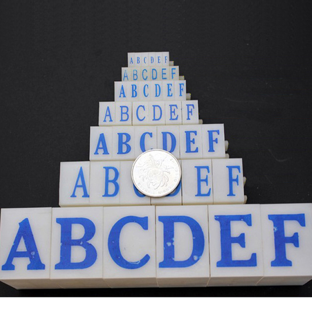 DIY Paper Work Alphabet Stamp Combination