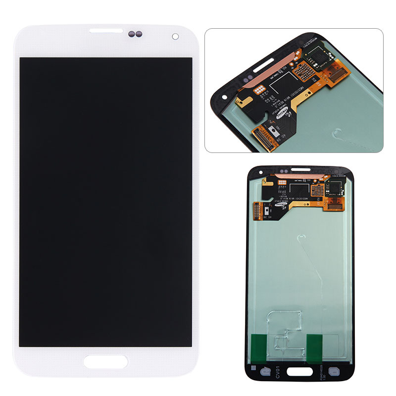 100 Original for Samsung Galaxy S5 LCD display touch screen Digitizer white or black for G900F