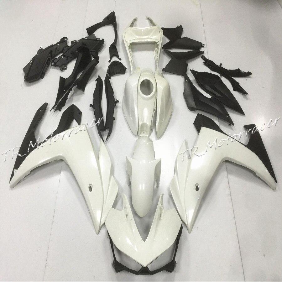 Мотоцикл Белый Некрашеный инъекции обтекатель набор кузова для Ямаха YZF R3 с Р25 2015 ABS пластик части мотора