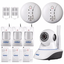 KERUI 720 P WiFi IP Camera Kit Home Office Sistema de alarme Sensores de Movimento Do Cartão SD