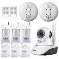 KERUI 720 P WiFi IP Camera Kit Home Office Sistema de alarme Sensores de Movimento Do Cartão SD