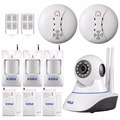 KERUI 720P WiFi IP Camera Home Office Burglar alarm System Motion Sensors Kit SD Card