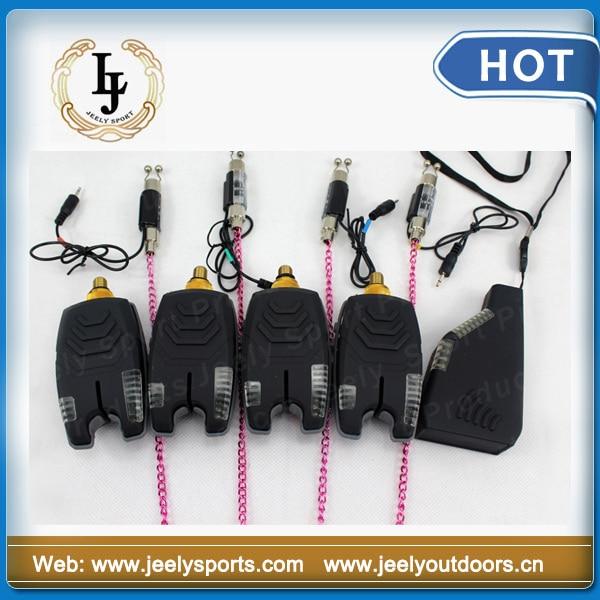 JY75 Carp Fishing bite alarm fishing swinger 8LED Wireless set carp set(4+1+4set) - Jeely Sports 20% Off Store store