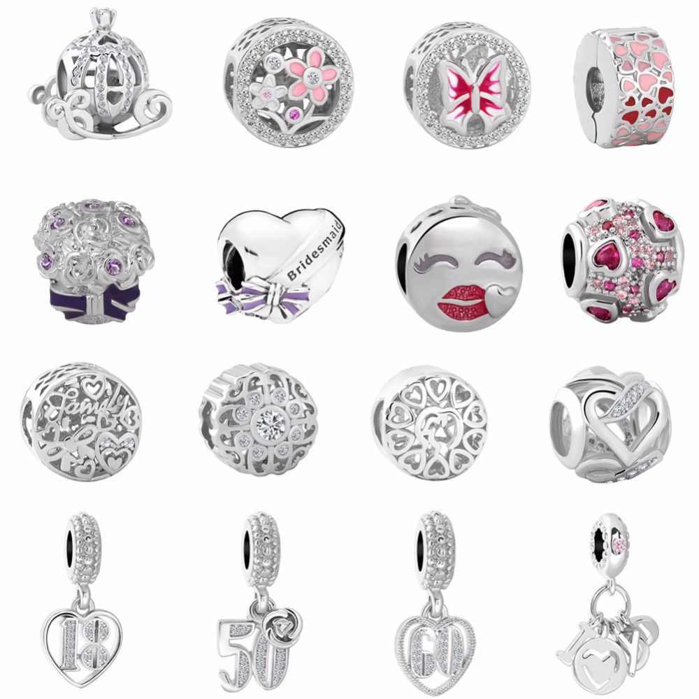 da08e1714 Detail Feedback Questions about 2018 new free shipping 1pc silver  CINDERELLA'S PUMPKIN COACH butterlfy diy bead Fits European Pandora Charm  Bracelets mix057 ...