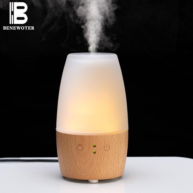 220 V madera romántica automático Aroma aceite esencial lámparas enchufe en Mini luz nocturna humidificador purificador de aire pulverizador regalo hogar decoración