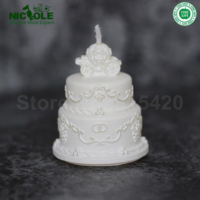 Homemade Wedding Cake Decoration Silicone Candle Soap Molds ...
