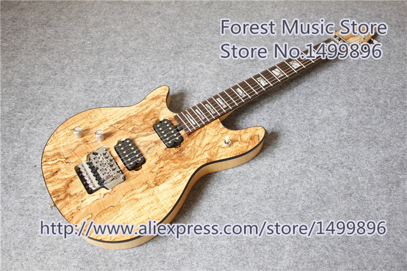 Hot Selling Natural Wood Grain Finish Left Handed Wolfgang Electric Guitars Free Shipping hot selling glossy brown finish sg electric guitars as picture left handed custom available
