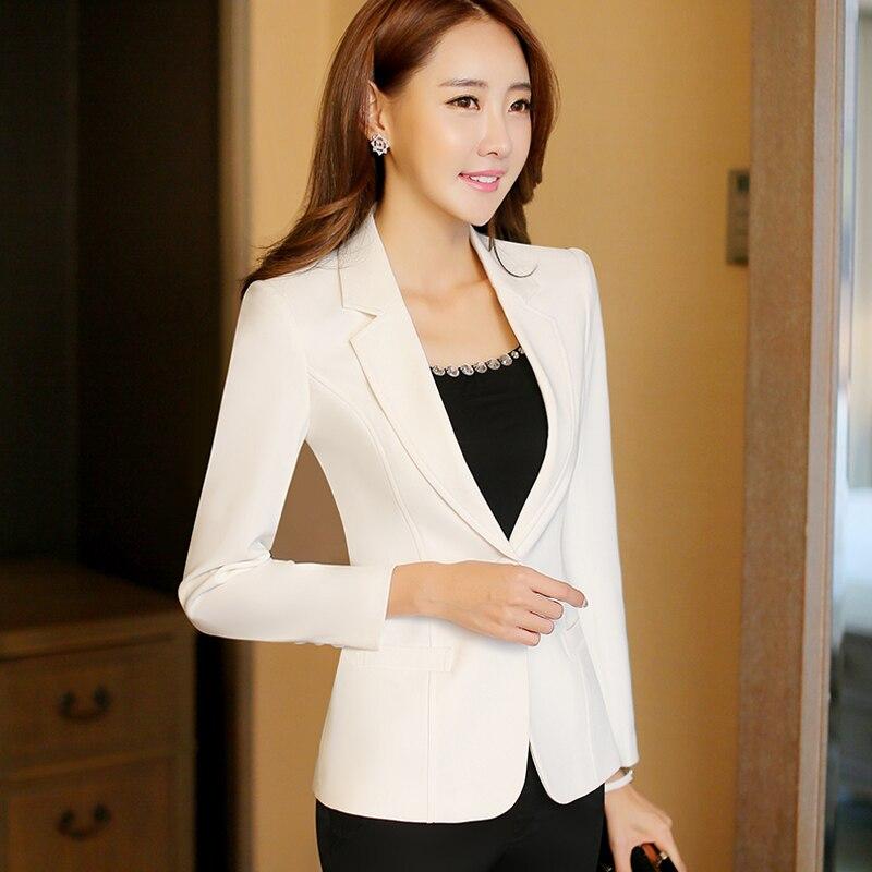 09398ab7b1 Lenshin nueva moda mujer blanco caramelo chaqueta Blazer abrigo chaquetas  botón ropa de mujer Tops en Chaquetas y americanas de La ropa de las mujeres  en ...