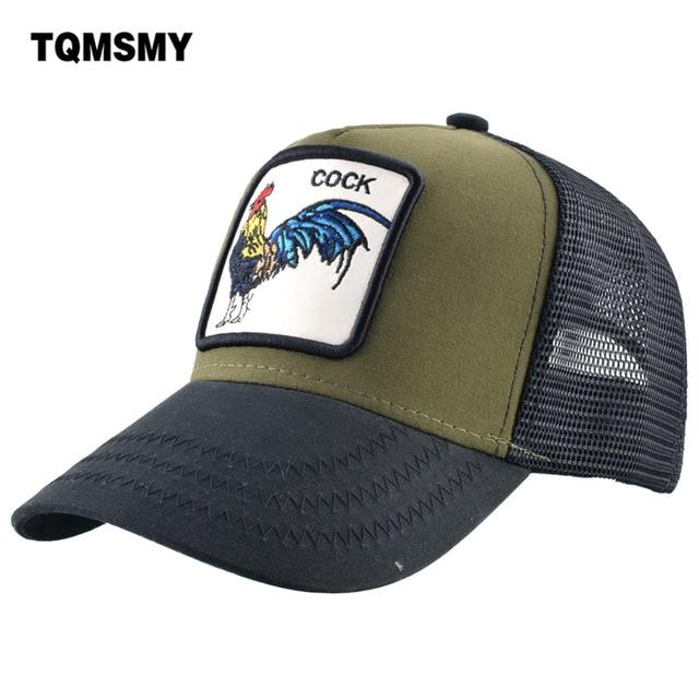 23304d19aadb08 TQMSMY Summer Mesh Embroidery Animal Cotton Men Cock Baseball Cap Hats For Women  Snapback Gorras Trucker hats Hip Hop Caps TMA06