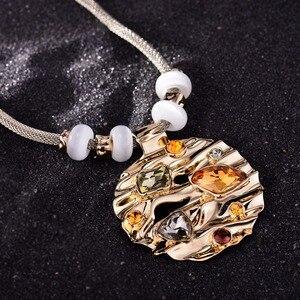 Image 3 - Viennes zestaw biżuterii kolorowe kryształy naszyjnik i kolczyki zestawy biżuterii dla kobiet Fashion Design zestaw biżuterii