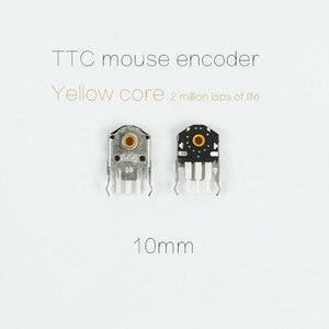 5PCS original TTC 10mm mouse encoder yellow core for gaming Mouse KANA KINZU v2 v3 Logitech G102 GPRO High-precision long life(China)