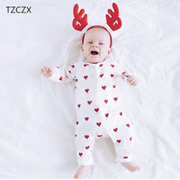 TZCZX 3122 New Children Baby Boys Girls Rompers Novelty Lovely Cartoon Printed Jumpsuit For 3 To