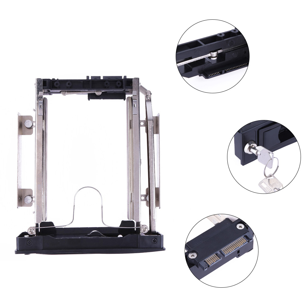 3.5 inch Hard Drive Bracket SATA HDD Enclosure Caddy Metal HDD Storage Mobile Rack Bracket 3.5hard disk adapter 3.5 hdd adapter 5 25 to 3 5 sata sas hdd hard drive cage adapter tray caddy rack bracket for 3x 5 25 cd rom slot internal or external pc diy