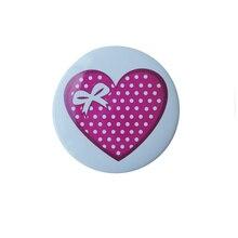 Can be customized logo aluminum badge love round K200335