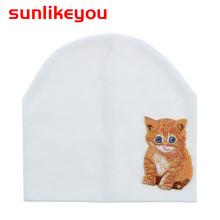 Sunlikeyou Baby Hat For Girl Kids Cap Baby Beanie Bonnet Newborn Cute Animal Embroidery Infant Cotton Soft Toddler Summer Hat newborn baby hat soft pure cotton infant bebe boy girl beanie hospital hat heart baby knitted bonnet cap
