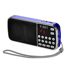 Новые цифровые медиаторы для пожилых людей Портативные подключаемые карты маленькие Радио стерео музыкальный плеер Портативный ЖК-цифровой fm-карта радио