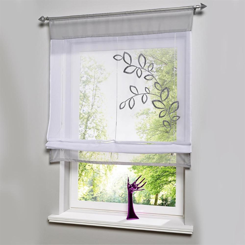 nuevo estilo europeo bordado rodillo cortinas para la ventana de la cortina romana balcn y cocina