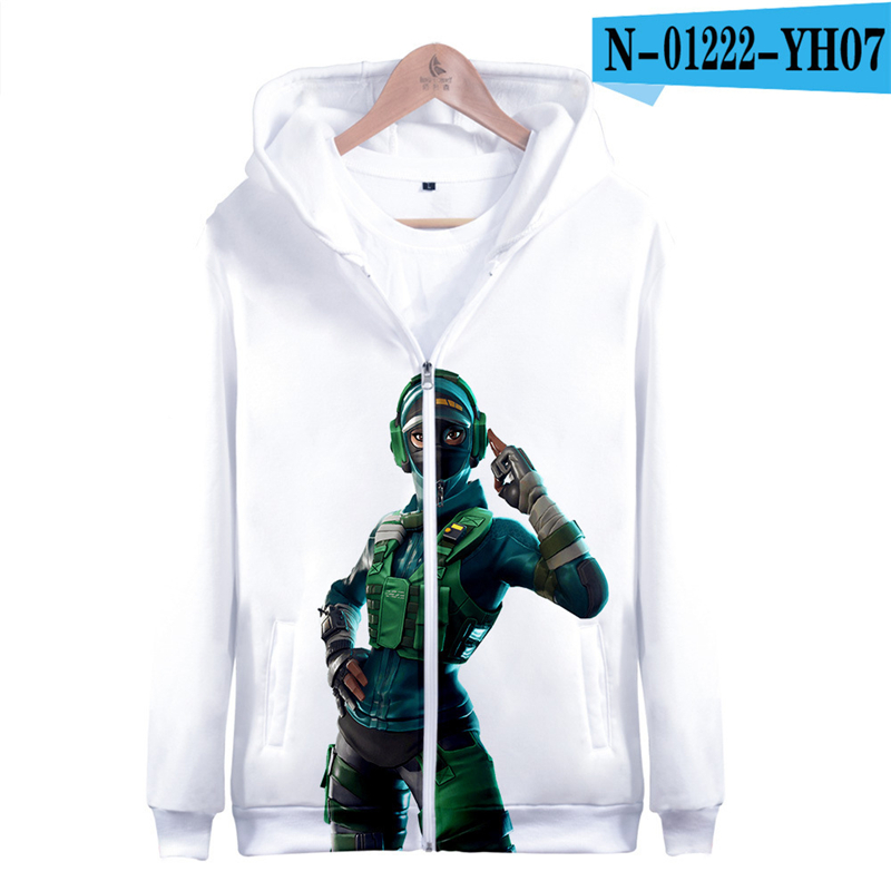 3D Hoodie Fortnight Zipper Fortnight Sweatshirt Game Popular Clothes Pullover Kid Clothings Women Clothes Men Streetwear Hooded