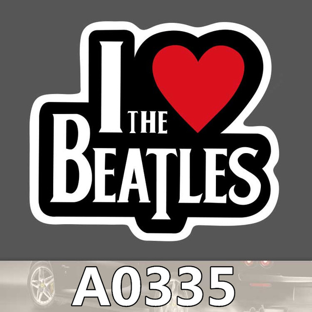 Bevle a0335 i love the band waterproof sticker for cars phone laptop luggage skateboard graffiti notebook