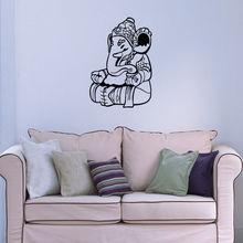 Ganesha Indian Pattern Wall Mural PVC Home Decor Sticker Vinyl Removable Bedroom Art Decorative Y-520