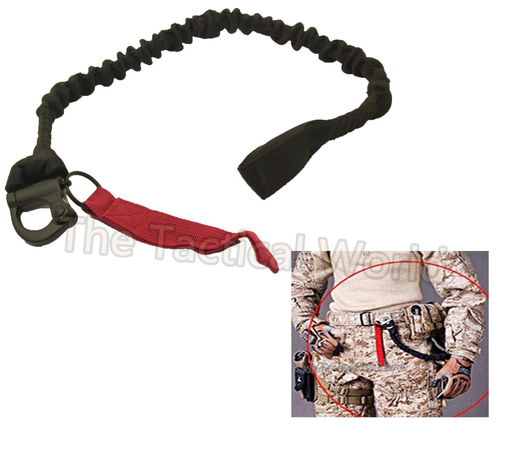Tactical Elastic Safety Lanyard Belt Airsoft Quick Release Sling Shooting Hunting Nylon Rope Combat Accessories Survival Gear belt
