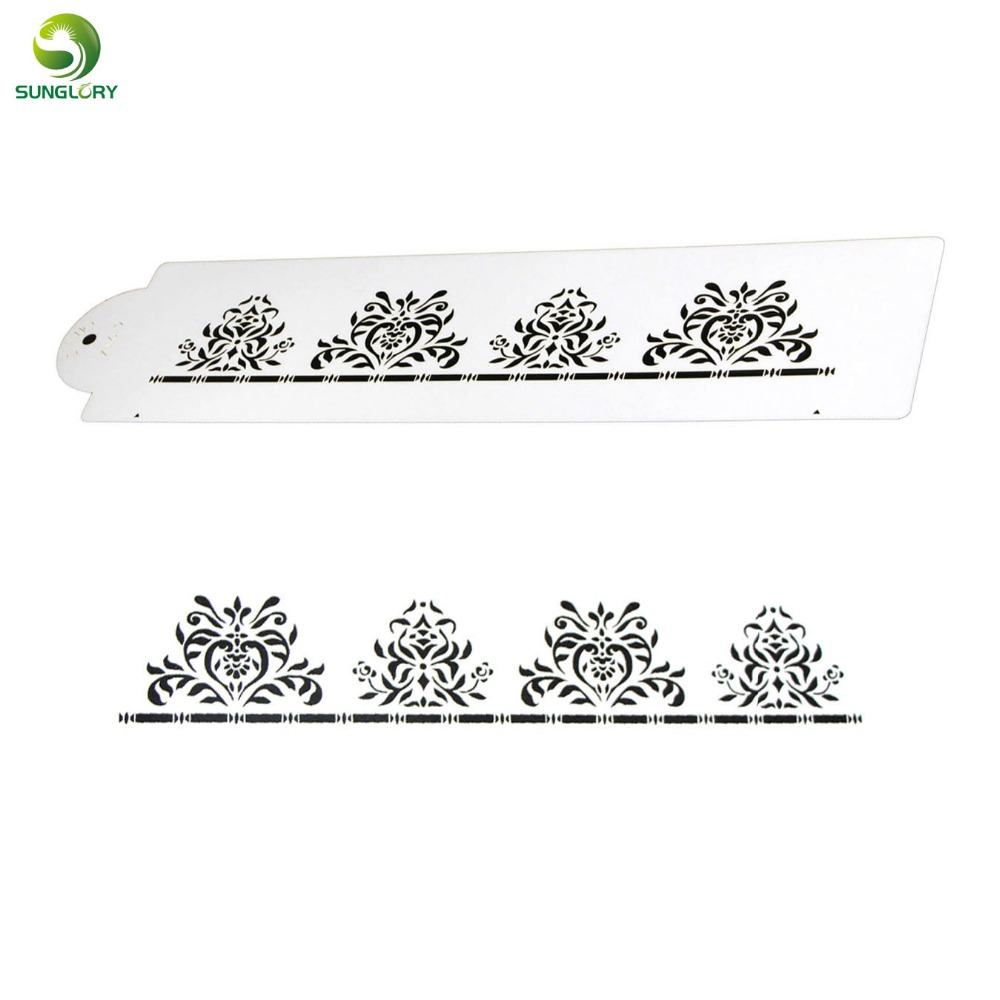 DIY Flower Cake Stencil Cupcake Decoration Template Mold Coffee Stencil Cookie Mold Baking Tools For Cakes Bakeware Fondant Mold in Other Cake Tools from Home Garden