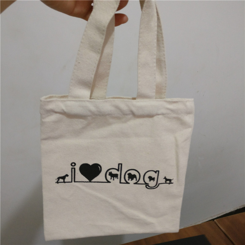 1f65998f133 wholesale 500pcs lot 20x22Hcm cotton Canvas shopping bags foldable reusable grocery  bags eco tote handbag custom print logo-in Shopping Bags from Luggage ...