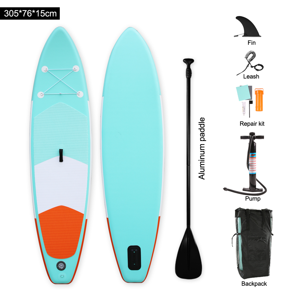 Heytur nouveau design Aqua couleur Gonflable SUP Stand up Paddle Board iSUP Gonflable Paddle Board