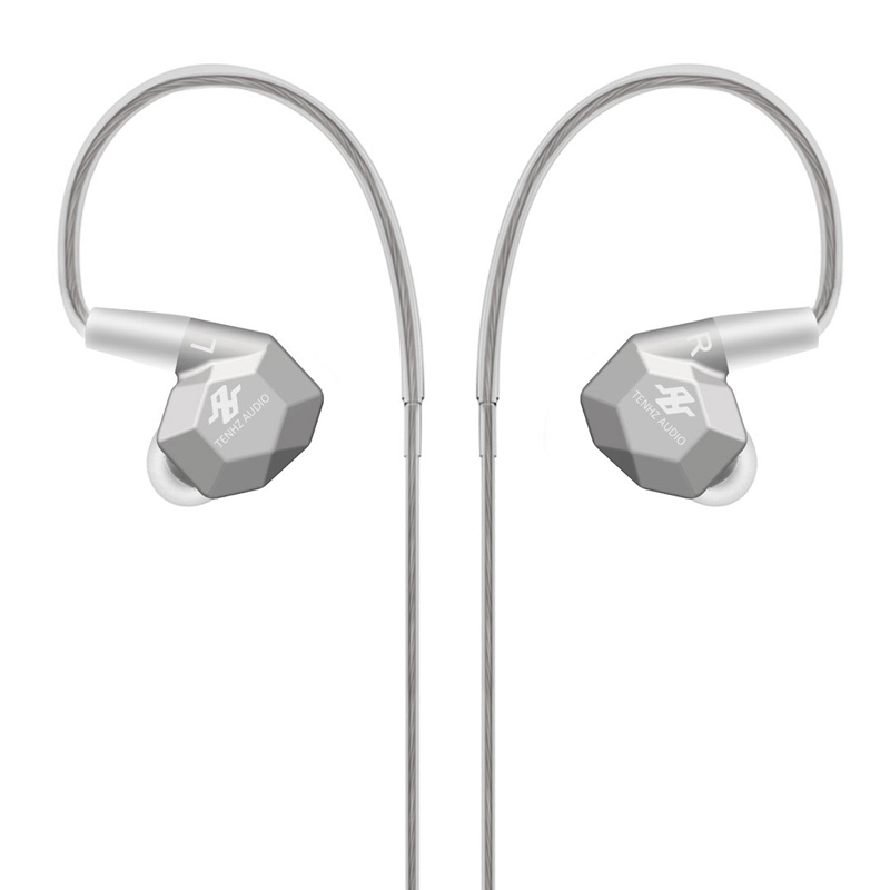 TENHZ K5 2BA+2DD Hybrid Drive Unit In Ear Earphone Metal Earphone DJ HIFI Monitor Earphone With Detachable Detach MMCX Cable d3 earphone 2ba 1dd hifi hybrid earbuds stereo headphone in ear mmcx interface headset detachable cable dj monitor earphones