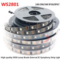 LED WS2801 3M/5M 32leds/m 5050 RBG DC5V IP30/IP67 Addressable LED Strip Arduino development ambilight TV