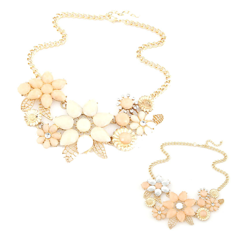 01ab5c5d0 2017 New Fashionable Bright Flower Necklace Charm Rhinestone Necklace And  Pendant Gift Chain Choker Bib Statement Necklace-in Choker Necklaces from  Jewelry ...