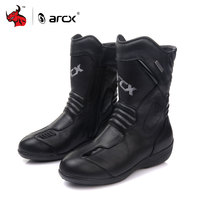 ARCX Women Motorcycle Boots Genuine Cow Leather Moto Boots Waterproof Motorcross Boots Black Motorcycle Shoes
